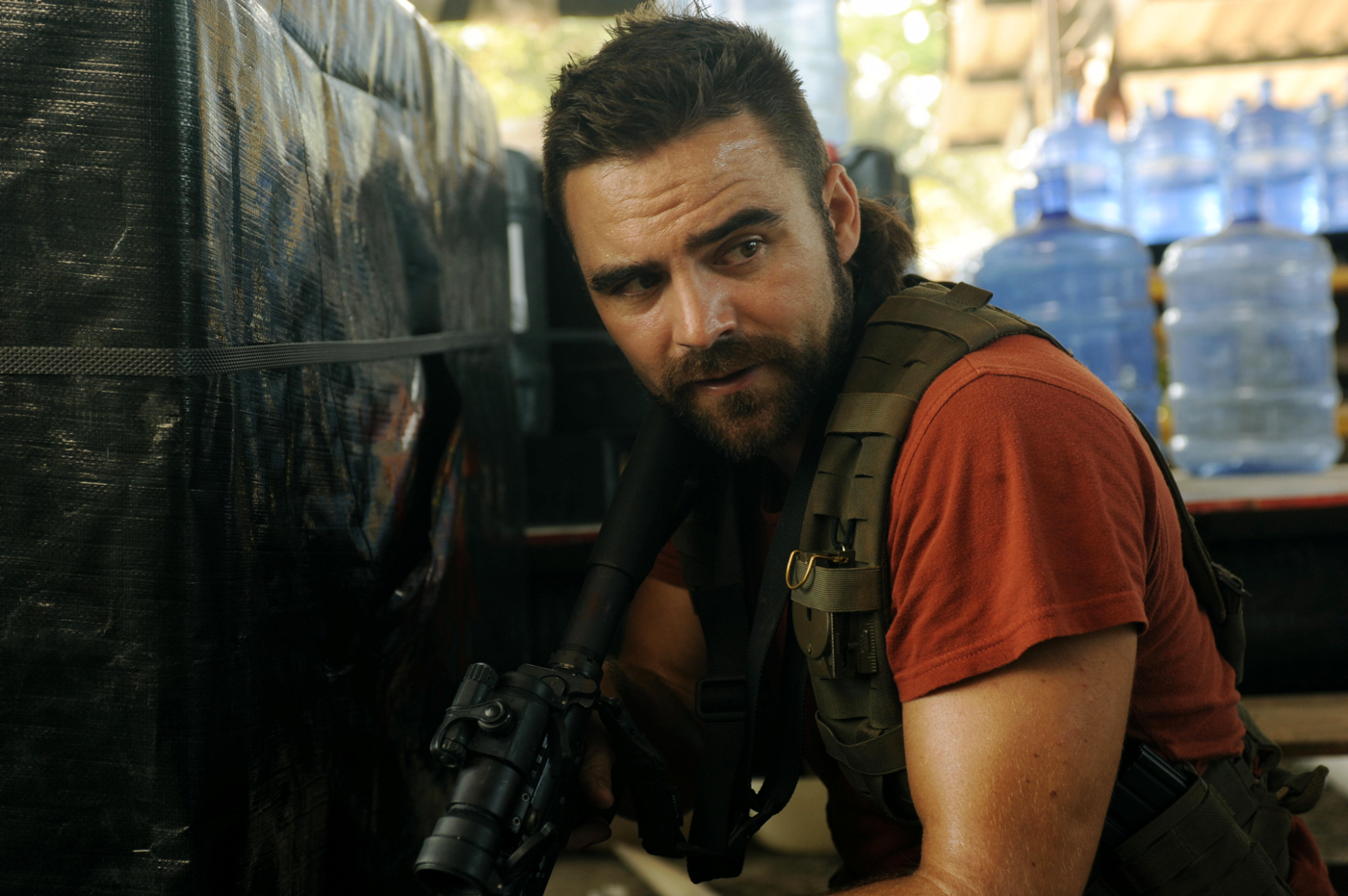 Dustin clare on strike back the man under the mullet tv show