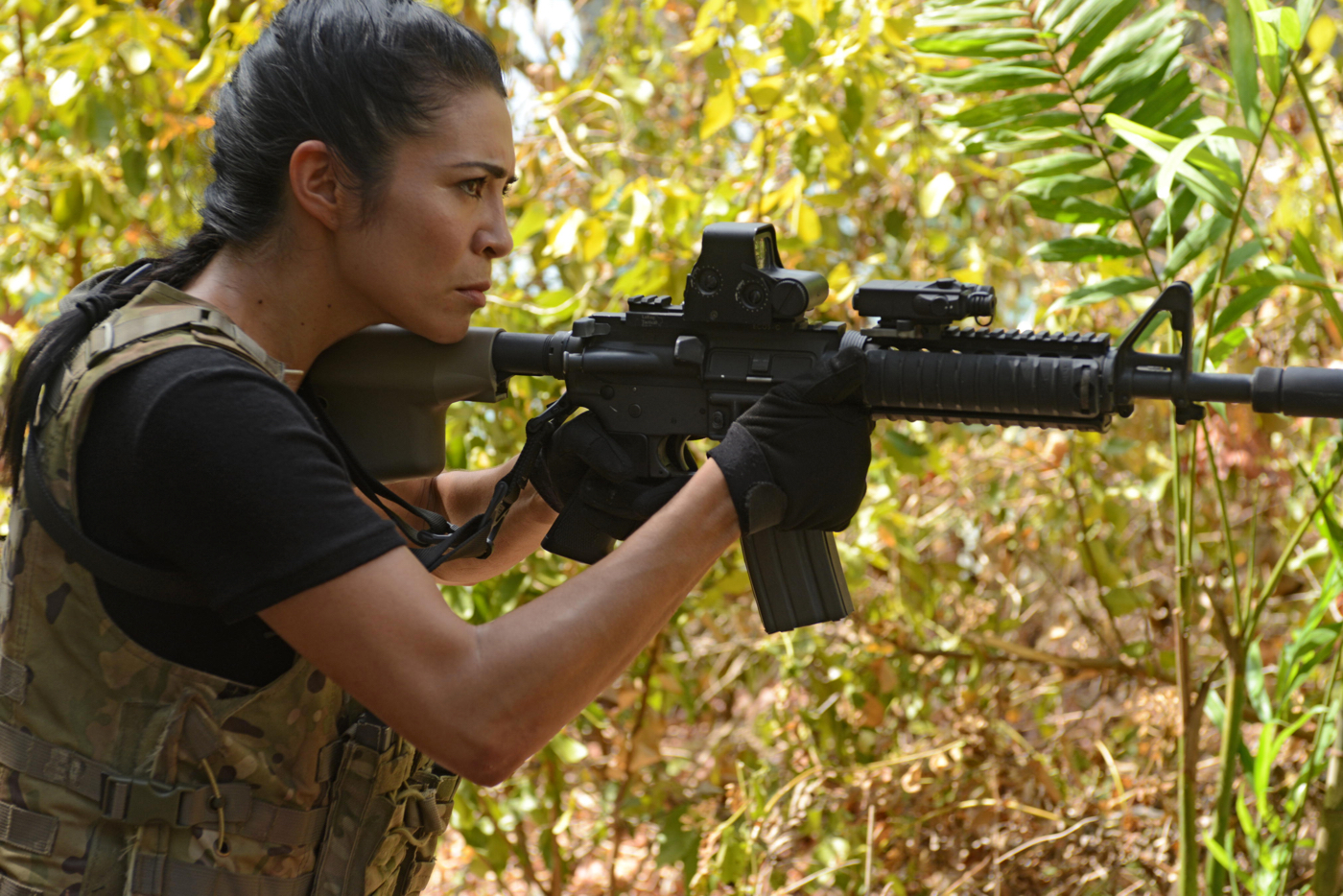 Michelle Lukes Looks Back On Strike Back Tv Show Patrol